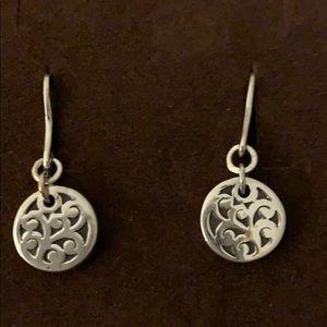 Lois Hill Sterling Silver Disc Drop Earrings